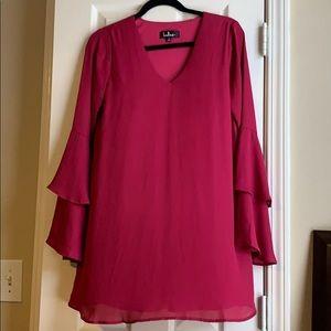 Lush long bell sleeve dress